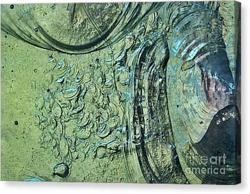 Turquoise Stained Glass Canvas Print - Aqua Stained Glass by Susan Isakson