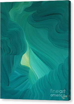 Aquamarine Vista Canvas Print by Ginny Gaura