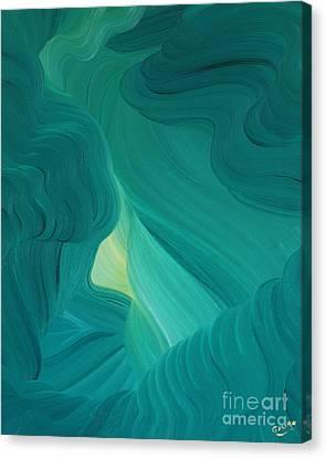 Canvas Print featuring the painting Aquamarine Vista by Ginny Gaura
