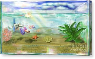 Aquarium Canvas Print by MURUMURU By FP