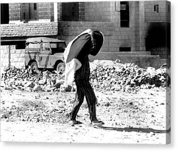 Arab-israeli War, Jordanian In Pajamas Canvas Print by Everett