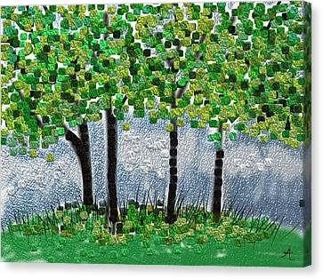 Arborline Canvas Print by Anita Duhon