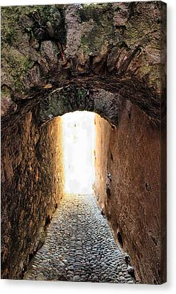 Arch In The Alley Canvas Print by Ettore Zani
