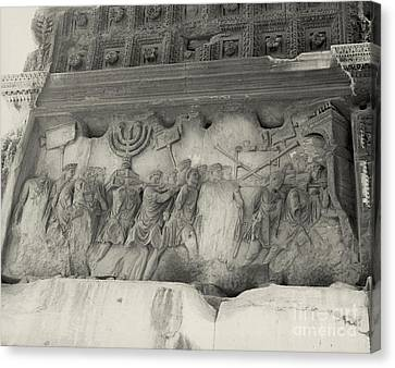 Arch Of Titus, Rome, Italy Canvas Print by Photo Researchers, Inc.