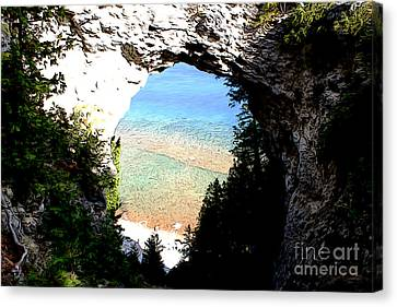 Canvas Print featuring the photograph Arch Rock by Anne Raczkowski