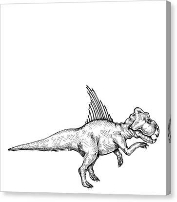 Archaeoceratops - Dinosaur Canvas Print by Karl Addison
