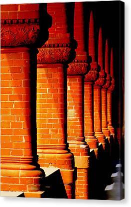 Archaic Columns Canvas Print by Karen Wiles