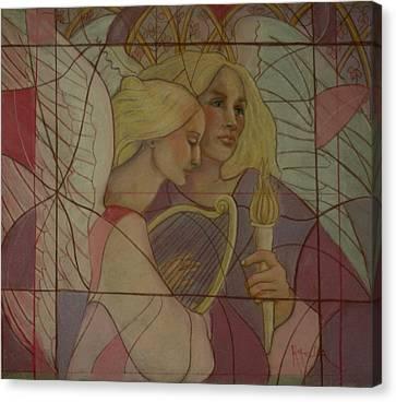 Archangel And Faith Canvas Print