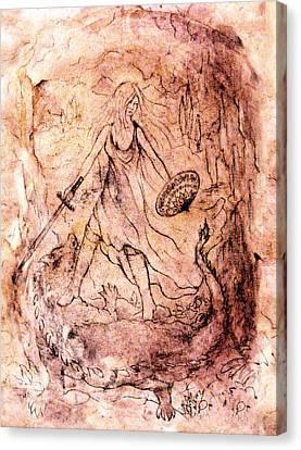 Archangel Study Canvas Print by Rachel Christine Nowicki