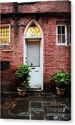 Arched Doorway French Quarter New Orleans Film Grain Digital Art Canvas Print