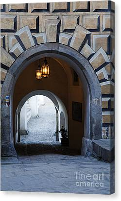 Arched Walkway Canvas Print by David Buffington