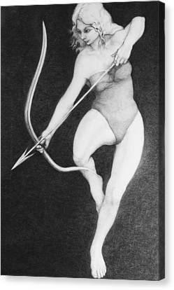 Archer Canvas Print by Louis Gleason
