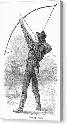Archery, C1880s Canvas Print by Granger