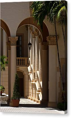 Canvas Print featuring the photograph Arches And Columns At The Biltmore Hotel by Ed Gleichman