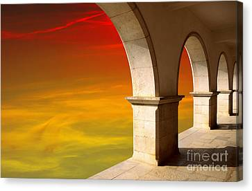 Arches At Sunset Canvas Print