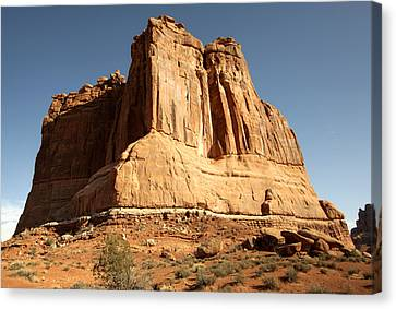 Arches N P The Courthouse Towers View Canvas Print by Paul Cannon