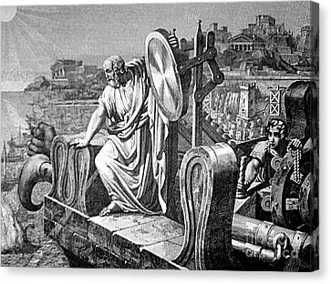 Archimedes Heat Ray, Siege Of Syracuse Canvas Print by Science Source