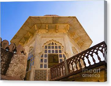 Architectural Details Of The Amber Fort Canvas Print by Inti St. Clair