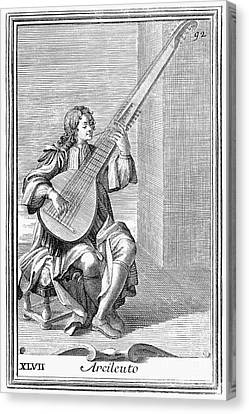 Archlute, 1723 Canvas Print by Granger