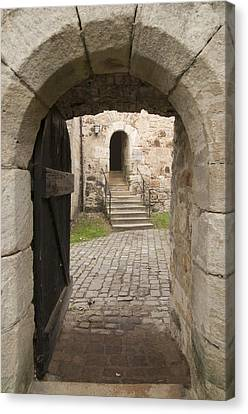Archway - Entrance To Historic Town Canvas Print by Matthias Hauser