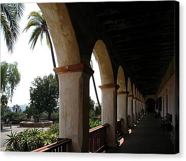 Archway Mission St Barbara Canvas Print by Christiane Schulze Art And Photography