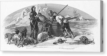 Arctic Exploration, 1856 Canvas Print