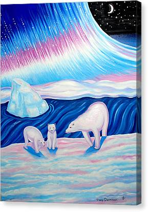 Arctic Nights Canvas Print by Tracy Dennison