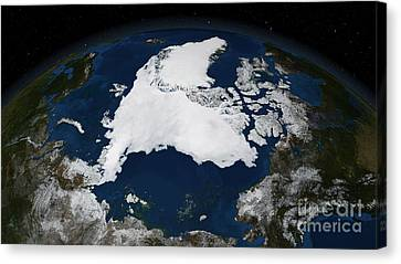 Arctic Sea Ice Canvas Print by Science Source