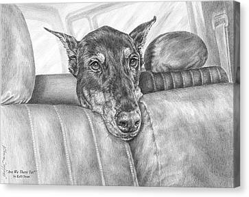Are We There Yet - Doberman Pinscher Dog Print Canvas Print by Kelli Swan