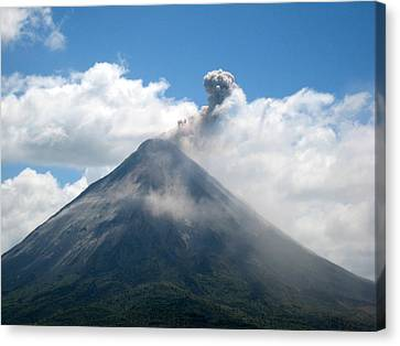 Canvas Print featuring the photograph Arenal Eruption by Eric Tressler