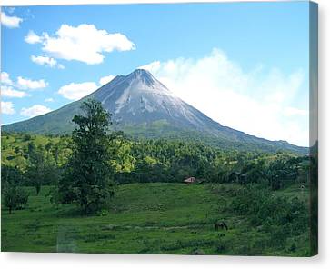 Canvas Print featuring the photograph Arenal by Eric Tressler