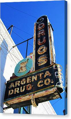 Argenta Drug Co. Canvas Print by Todd Sherlock