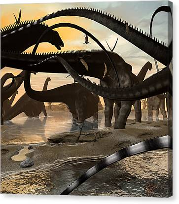 Argentinosaurus Migration Canvas Print