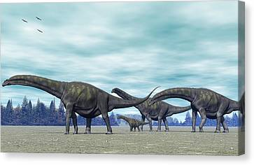 Argentinosaurus Canvas Print by Walter Colvin