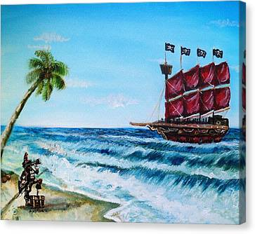 Argh 'bout Time Mateys Canvas Print by Shana Rowe Jackson