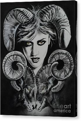 Aries The Ram Canvas Print by Carla Carson