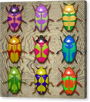 Aristotle Coleoptera IIi. Canvas Print by Tautvydas Davainis