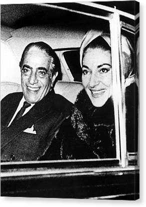 Aristotle Onassis And Maria Callas Canvas Print by Everett