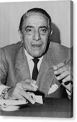 Aristotle Onassis, Circa Early 1970s Canvas Print by Everett