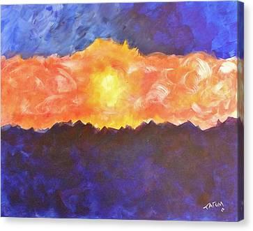 Arizona Sunset Canvas Print by Tatum Chestnut