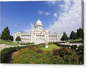 Arkansas State Capitol Building Canvas Print by Wesley Hitt
