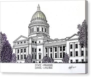 Arkansas State Capitol Canvas Print by Frederic Kohli