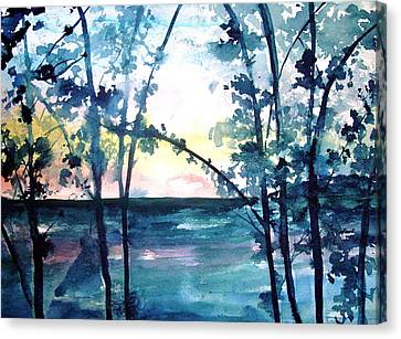 Arkansas Sunset Canvas Print by Robin Miller-Bookhout