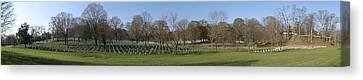 Arlington National Cemetery Panorama 1 Canvas Print by Metro DC Photography