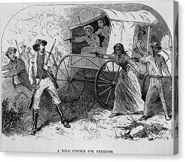 Armed Fugitive Slave Family Defending Canvas Print by Everett