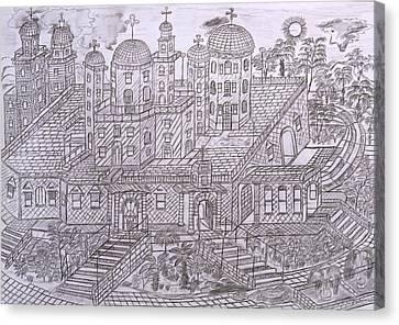 Armenian Church Canvas Print by Yuriy Mkhitaryants
