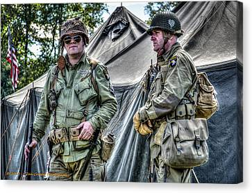 Army Life Canvas Print by Dan Crosby