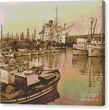 Army Transport At Fishermans Wharf San Francisco Canvas Print by Padre Art