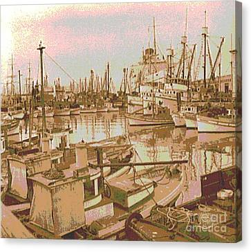 Collier Canvas Print - Army Troop Transport Fishermans Wharf San Francisco by Padre Art