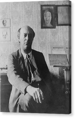 Arnold Schoenberg 1874-1951 Canvas Print by Everett